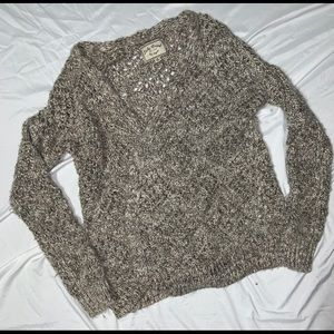 Lucky Brand Wool Open Front Cable Knit Cardigan